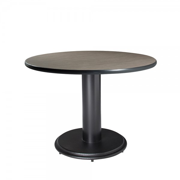 Circular Conference Table - Madison brown top w/black base