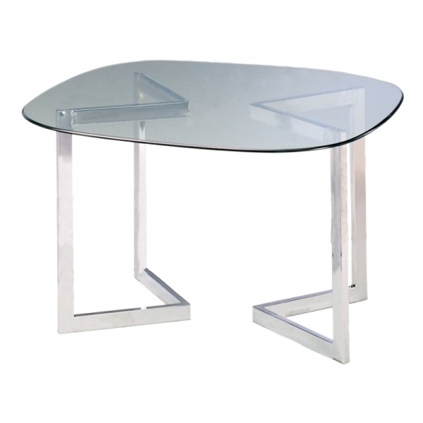 Geo Conference Table Chrome Base