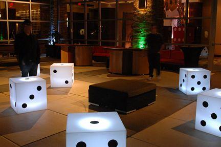 lighted dice white
