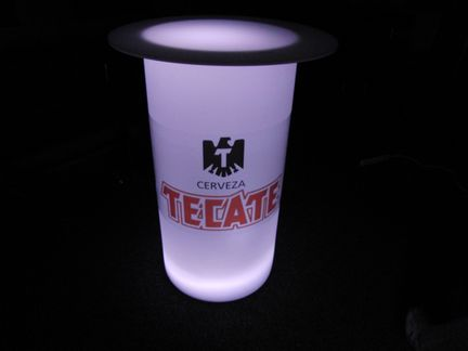 lighted high boy cocktail table with logo