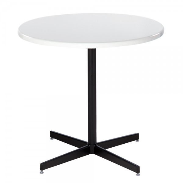 White Cafe Table with Black Base