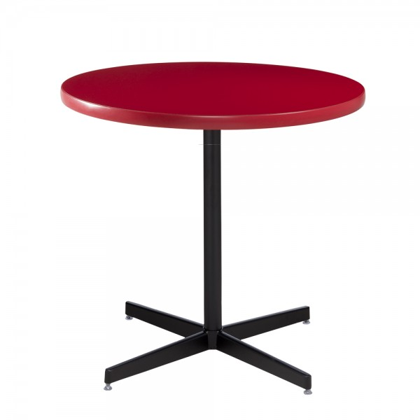 Red Cafe Table with Black Base