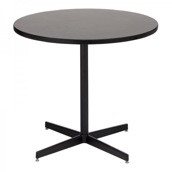 Graphite Cafe Table with Black Base