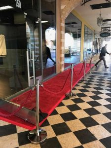 Stanchion and Red Carpet