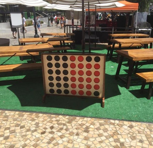 Picnic and Connect Four scene