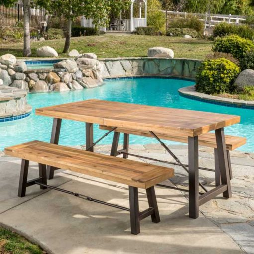 3 Piece Wood Picnic Table