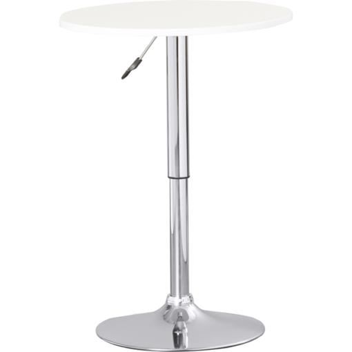 Pedestal Bar Table White