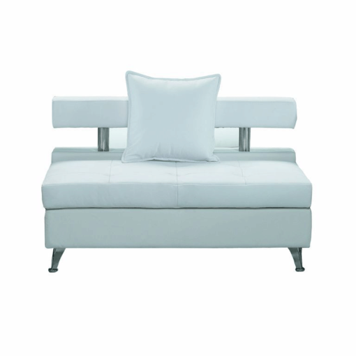 VIP White Modular Armless Sofa