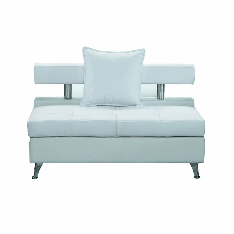 Vip White Modular Armless Sofa