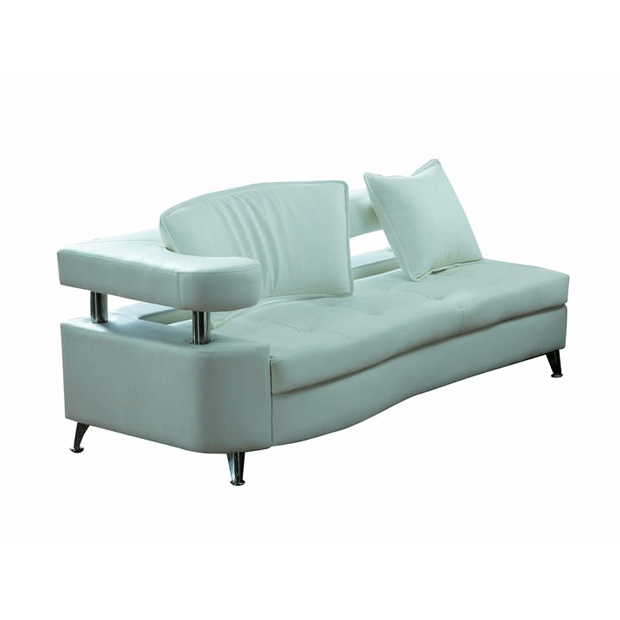 VIP White Modular Chaise Left