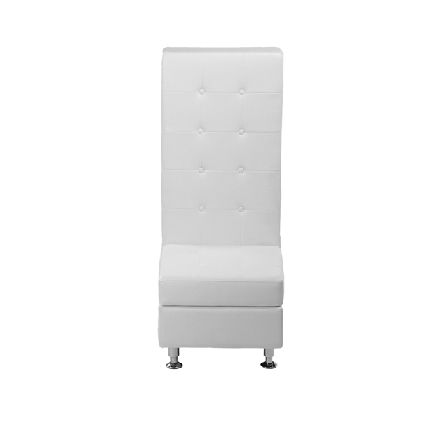VIP White Modular High Back Armless Leather Chair