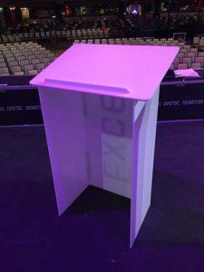 White Acrylic Podium 5