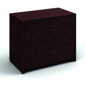 2 Drawer Lateral File Mahogany