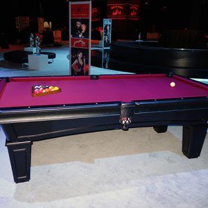 8ft Black Pearl Pool Table