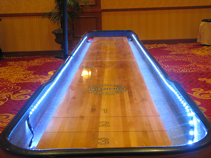 12 Ft Shuffleboard Table W Color Changing Led Lights 24