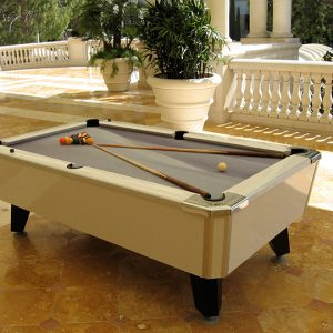 Masterpiece Pool Table - White with Snowdrift felt