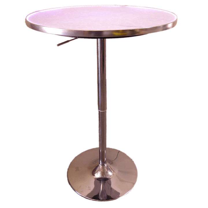 24in Round LED Cocktail Table