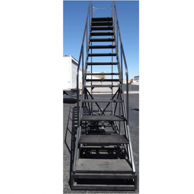 Collapsible rolling staircase front