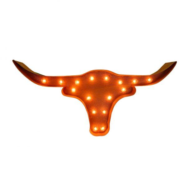 Lighted Texas Longhorn