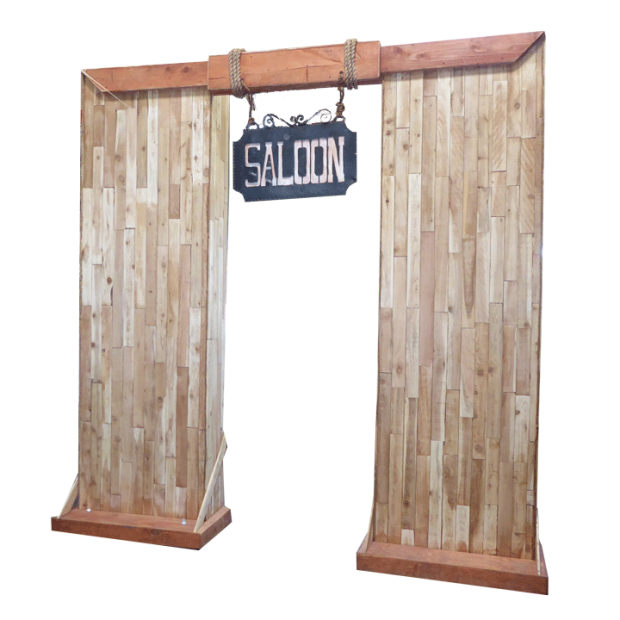 Wooden saloon entryway