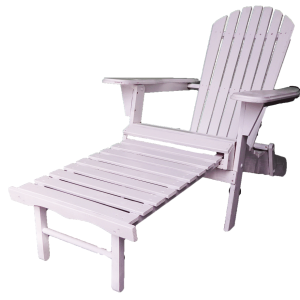 Wooden Beach Chair Footrest Extended