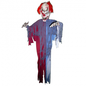 Hangable ghost clown with red hair