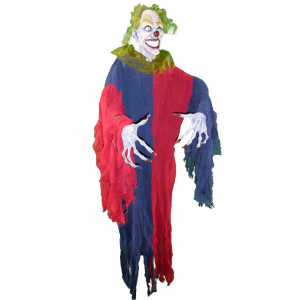 Red and Blue Scary Clown