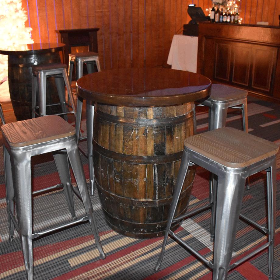 Whiskey Barrel Tables