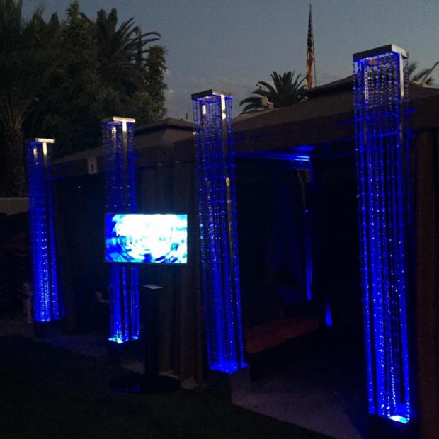 blue crystal columns