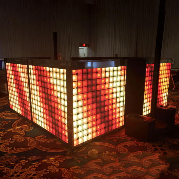 360 LED Tile DJ Booth