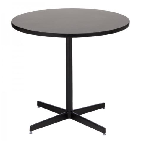 Graphite Round Cafe Table with Black Base