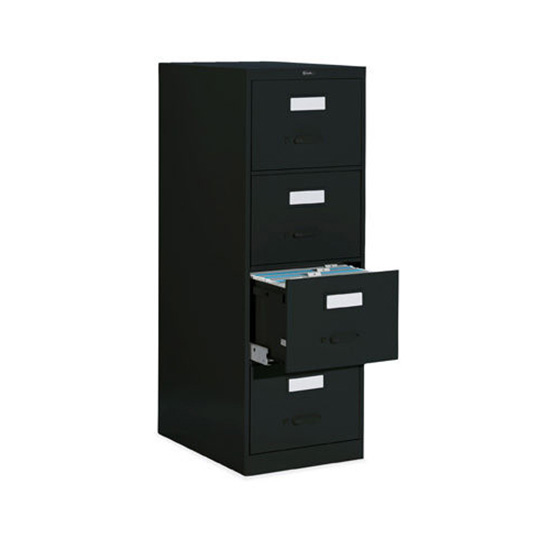 4 Drawer Black Vertical File
