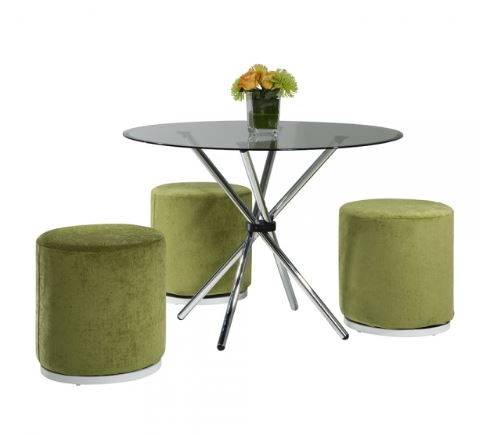 42in Atomic Round Table with stools
