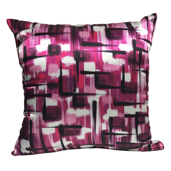 Abstract Magenta Pillow