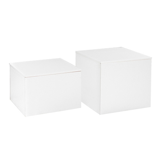 Cube End Table white