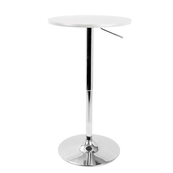 White Top Pedestal Bar Table