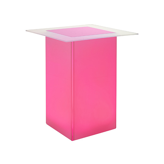 kool. GLO Bar Table Pink