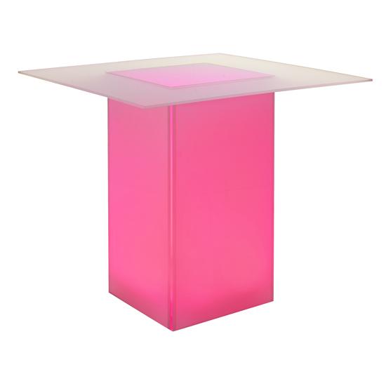 kool GLO Bar Table 48in Pink