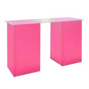 kool GLO Bar Table 72in Pink
