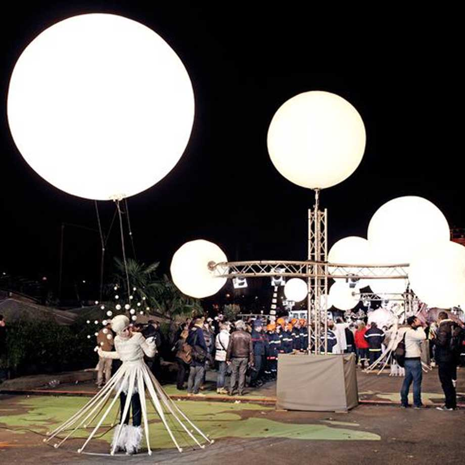Helium Filled Lighted Decor