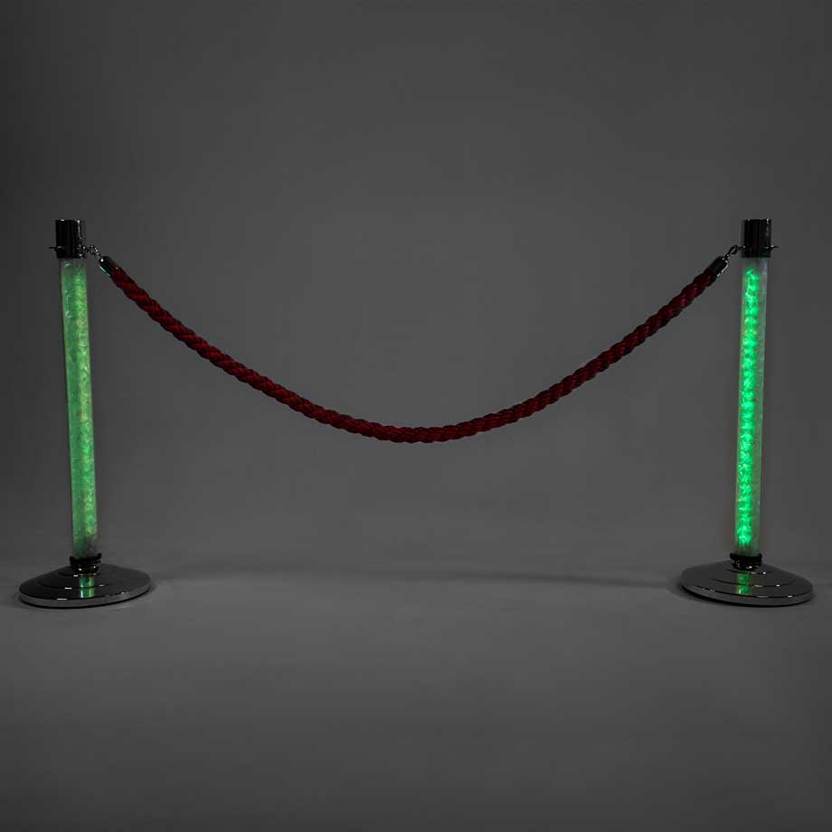 LED Stanchions Green