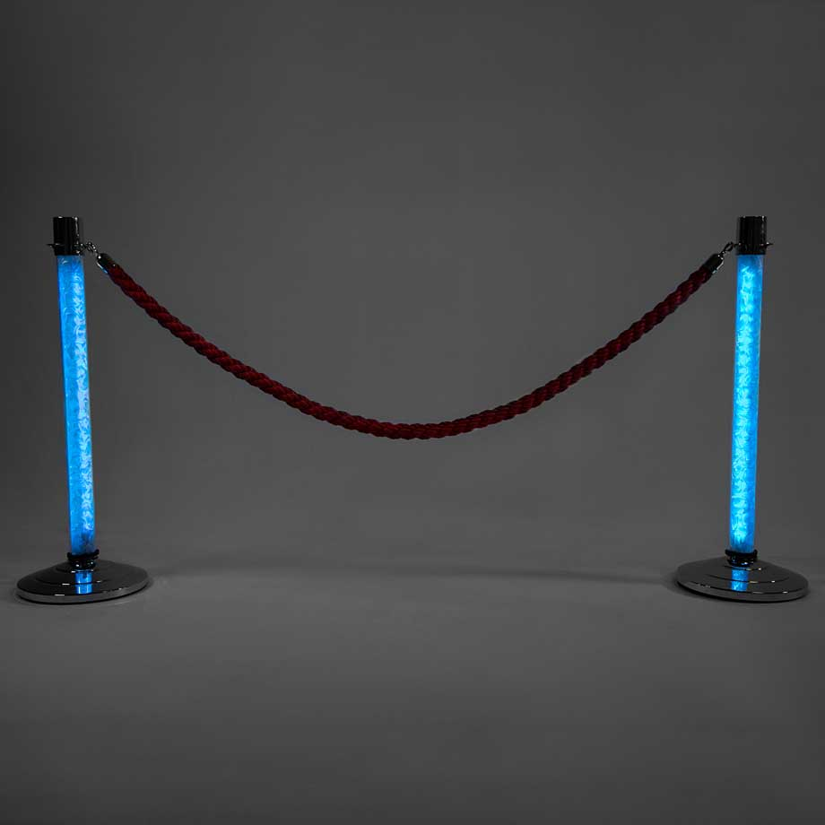 LED Stanchions Light Blue