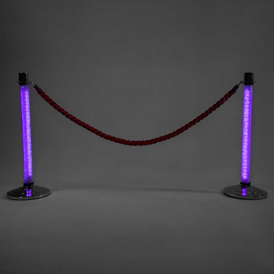 LED Stanchions Purple