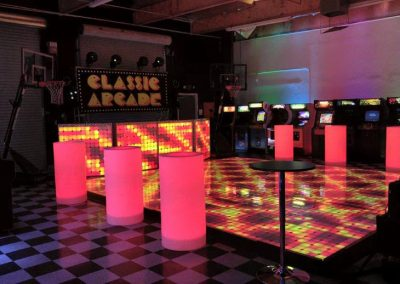 Arcade and Games LED Dance Floor and Tables