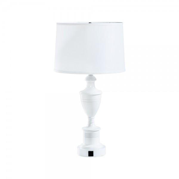 Gloss Table Lamp w AC Outlet