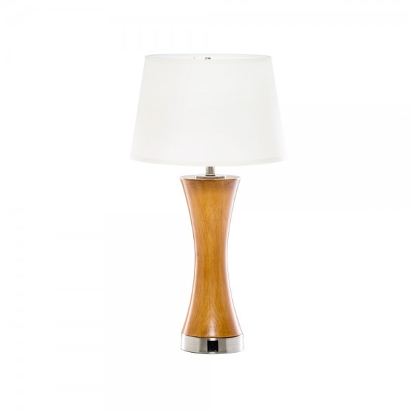 Honeywood Table Lamp w AC Outlet