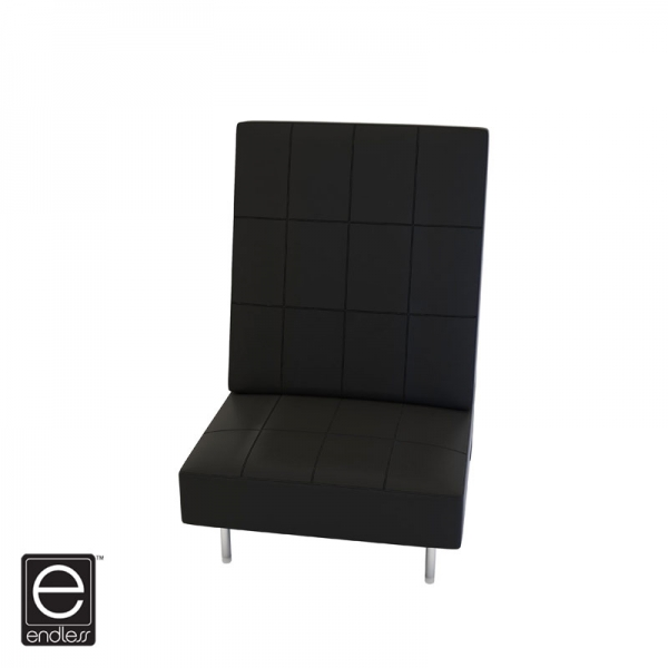 Black Endless Square High Back Chair