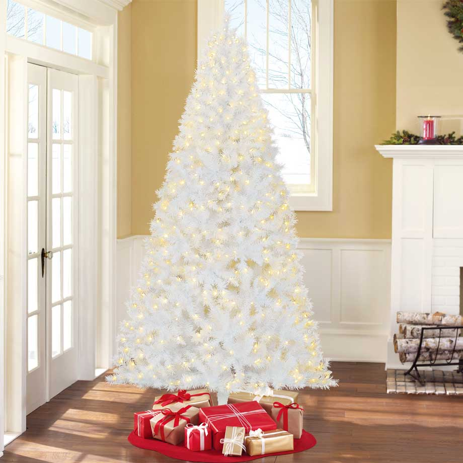 Holiday Time Pre-Lit 7.5' Kennedy Fir Artificial Tree, Clear-Lights