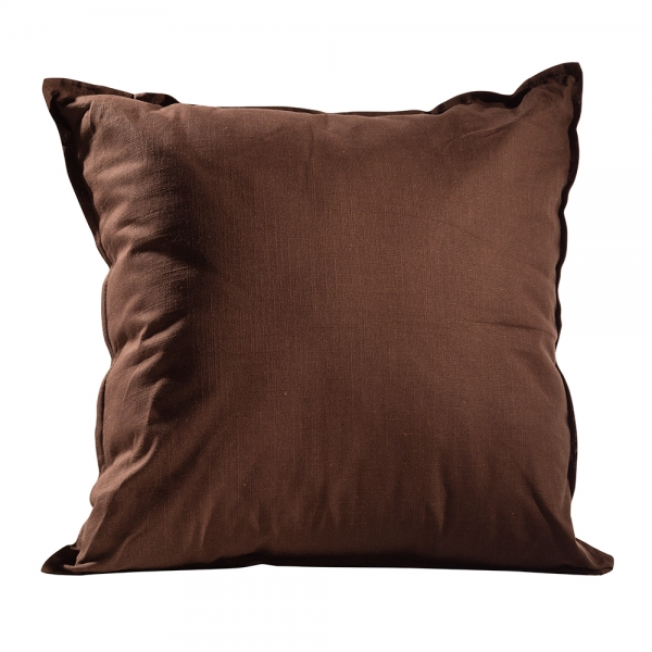 Solid Pillow Earth Brown