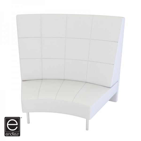 White Endless Large Curve High Back Chair